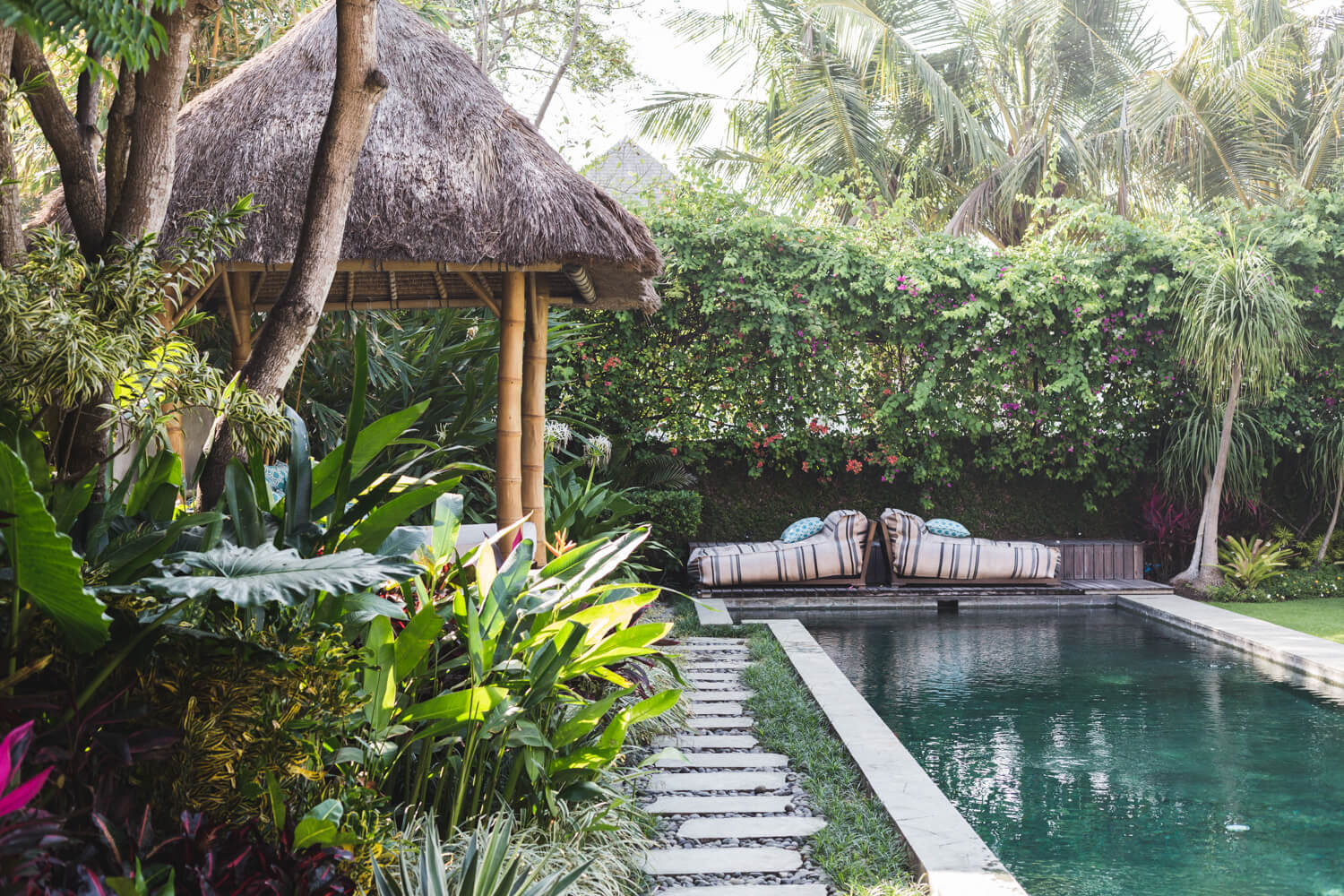 Poolside view at The Place Retreats Bali